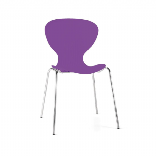 Bolero Purple Stacking Plastic Side Chairs (Pack of 4) - GP504